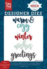 Warm Greetings Word Die Set
