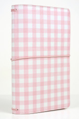 Pink Gingham Travelers Notebook
