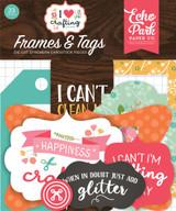 I Heart Crafting Frames & Tags Ephemera