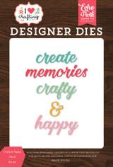 Crafty & Happy Word Die Set