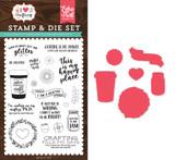 Just Add Glitter Die & Stamp Set