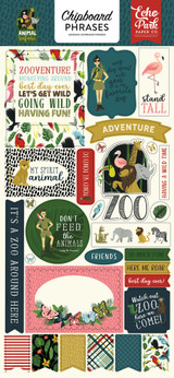 Animal Safari Chipboard Phrases