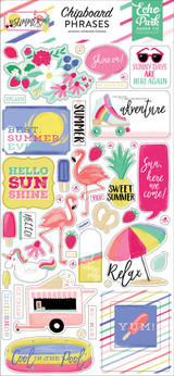 Best Summer Ever Chipboard Phrases