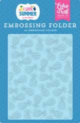 Summer Pineapples Embossing Folder