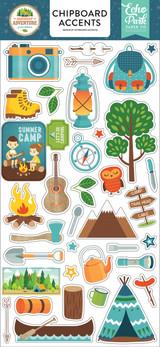 Summer Adventure Chipboard Accents