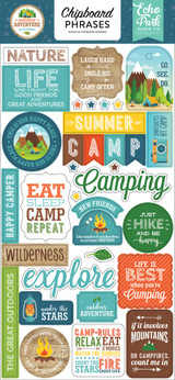 Summer Adventure Chipboard Phrases