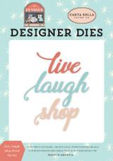 Live, Laugh, Shop Word Die Set