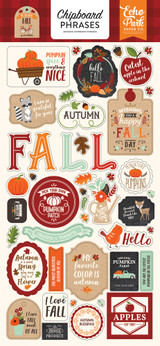 My Favorite Fall Chipboard Phrases