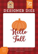 Hello Fall Pumpkin Die Set