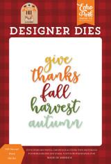 Fall Harvest Word Die Set