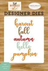 Hello Autumn Word Die Set
