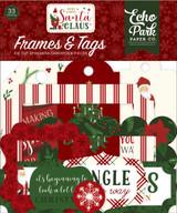 Here Comes Santa Clause Frames & Tags Ephemera
