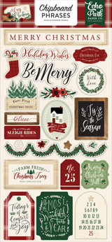 A Cozy Christmas Chipboard Phrases