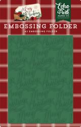 Merry Christmas Embossing Folder