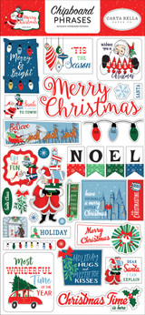 Merry Christmas Chipboard Phrases