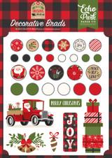 My Favorite Christmas Decorative Brads