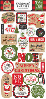 My Favorite Christmas Chipboard Phrases