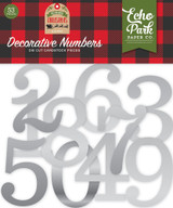 Silver Foil Decorative Numbers