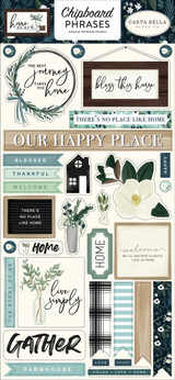 Home Again Chipboard Phrases