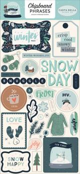 Snow Much Fun Chipboard Phrases
