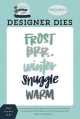 Winter Frost Word Die Set