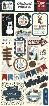 Warm & Cozy Chipboard Phrases