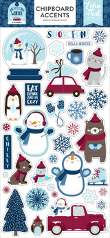 My Favorite Winter Chipboard Accents