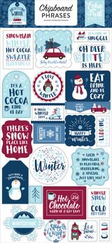 My Favorite Winter Chipboard Phrases