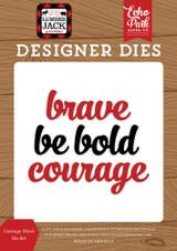 Courage Word Die Set