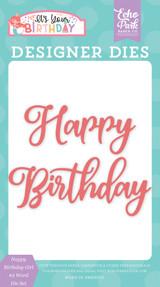 Happy Birthday Girl #2 Word Die Set