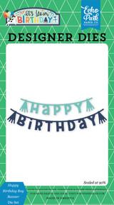 Happy Birthday Boy Banner Die Set