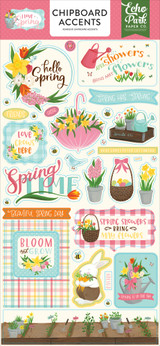 I Love Spring Chipboard Accents