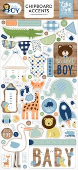 Baby Boy Chipboard Accents