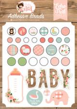 Baby Girl Adhesive Brads
