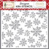 Blanket Of Snow 6x6 Stencil
