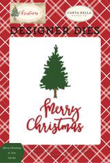 Merry Christmas & Tree Die Set