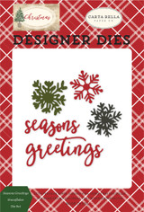 Seasons Greetings Snowflakes Die Set