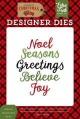 Believe In Christmas Word Die Set