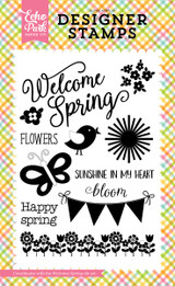 Welcome Spring 4x6 Stamp