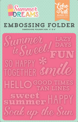 Summer is Sweet Embossing Folder