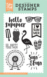 I Heart Summer 4x6 Stamp