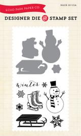 Snow Day Die/Stamp Set
