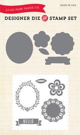 Simple Life Hello Die/Stamp Set