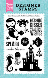 Mermaid Kisses 4x6 Stamp
