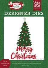 Merry Christmas Tree Die Set