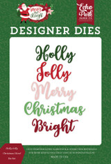 Holly Jolly Christmas Word Die Set