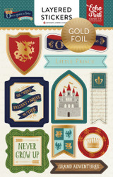Once Upon A Time Prince Layered Stickers - Foil
