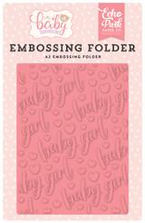Hello Baby Girl Embossing Folder - Baby Girl