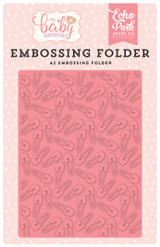Hello Baby Girl Embossing Folder - Baby Pin