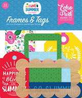 I Love Summer: Frames & Tags Ephemera
